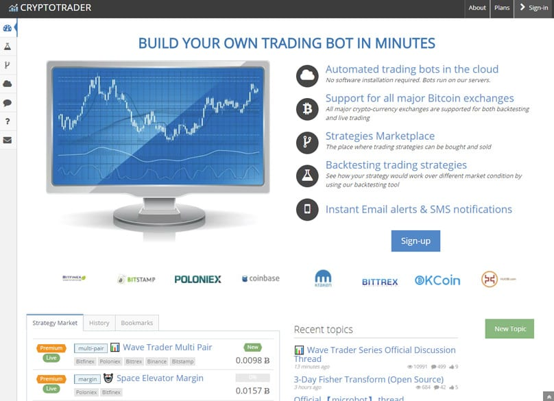 Does leonardow trading bot work with gdax
